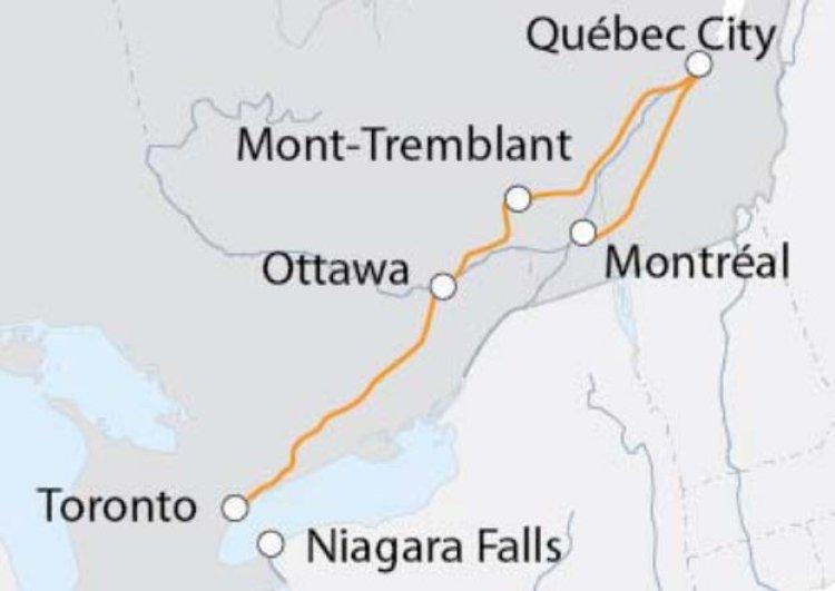 Mappa viaggi-canada