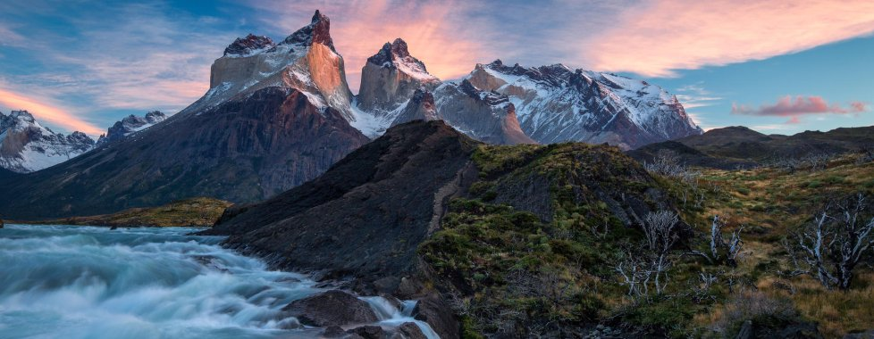Cascate nel Torres del Paine