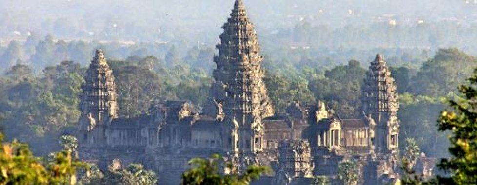 Angkor vista dalla collina
